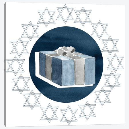 Happy Hanukkah Collection H Canvas Print #POP1736} by Grace Popp Canvas Art