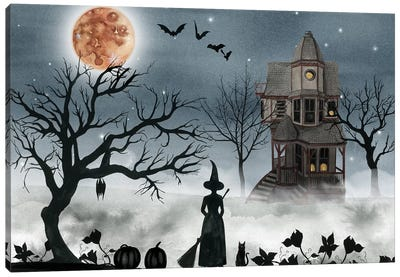 Harvest Moon Collection A Canvas Art Print