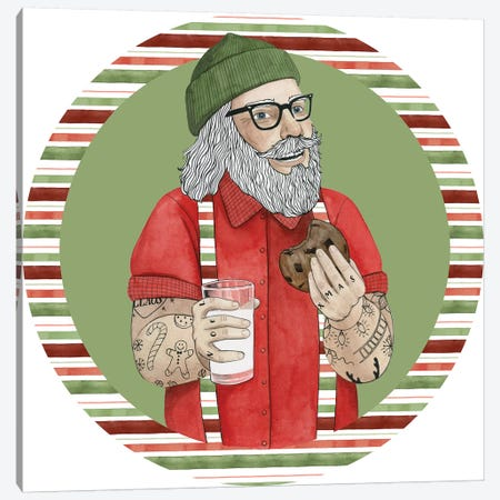 Hipster Santa Collection C Canvas Print #POP1744} by Grace Popp Art Print