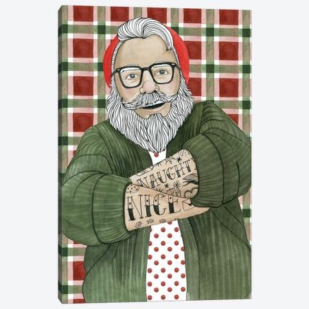 Hipster Santa II Canvas Print #POP1747} by Grace Popp Art Print