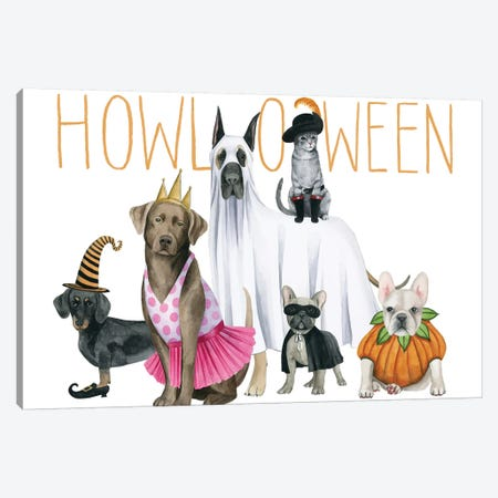 Howloween Collection A Canvas Print #POP1748} by Grace Popp Canvas Artwork