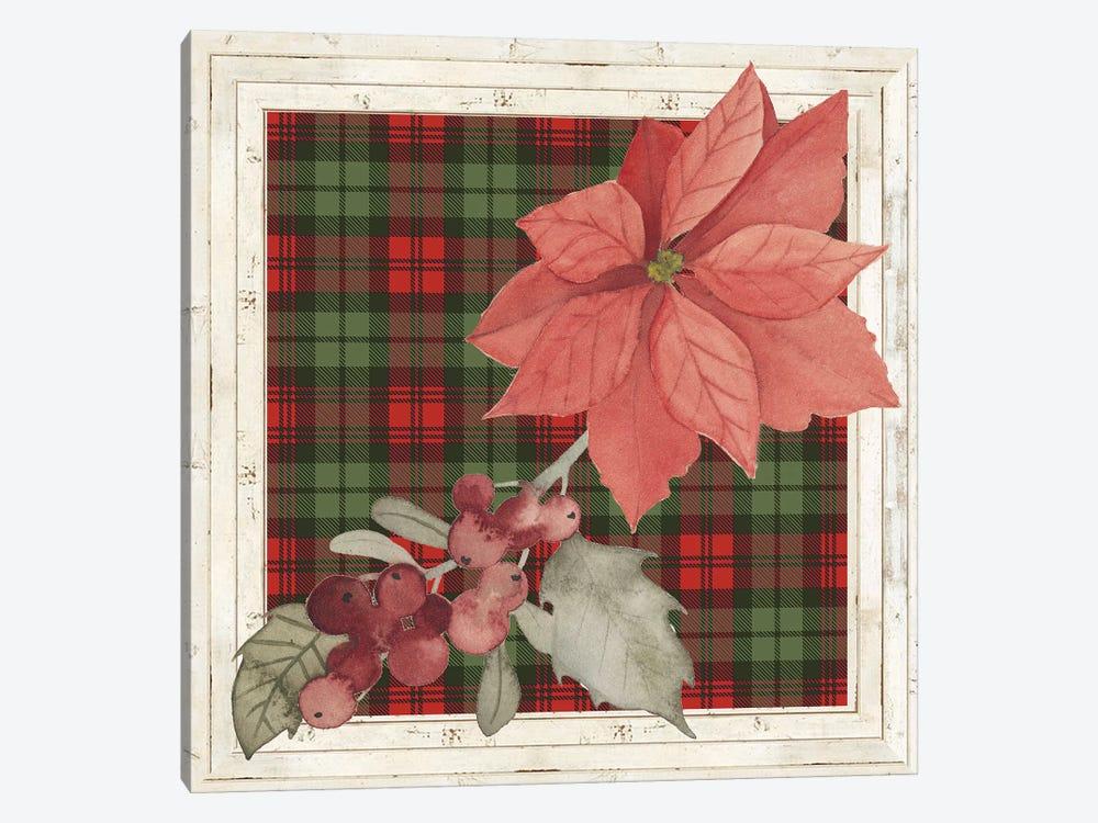 Plaid & Poinsettias Collection C by Grace Popp 1-piece Art Print