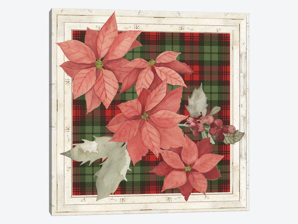 Plaid & Poinsettias Collection E by Grace Popp 1-piece Canvas Art Print