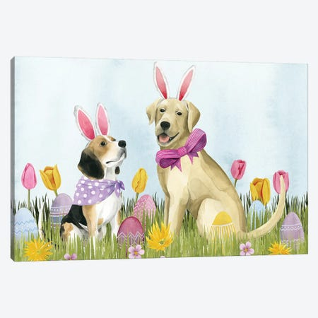 Puppy Easter Collection A Canvas Print #POP1770} by Grace Popp Art Print