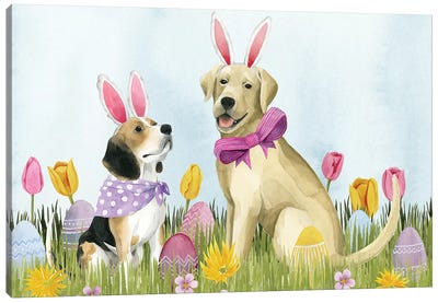 Puppy Easter Collection A Canvas Art Print