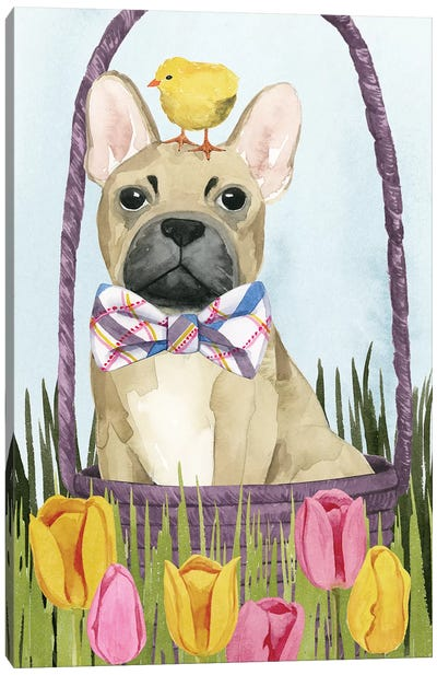 Puppy Easter Collection B Canvas Art Print