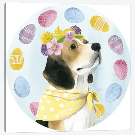 Puppy Easter Collection C Canvas Print #POP1772} by Grace Popp Canvas Print