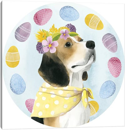 Puppy Easter Collection C Canvas Art Print