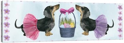 Puppy Easter Collection D Canvas Art Print