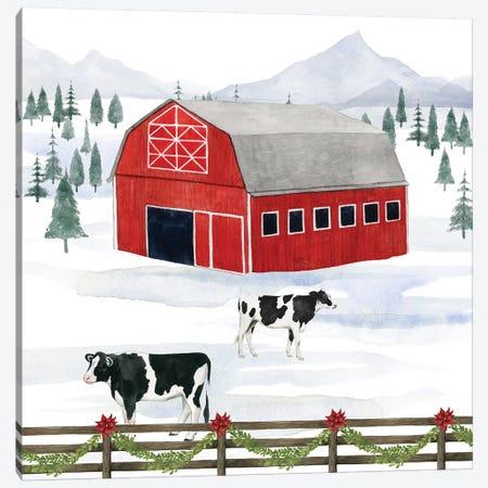Santa's Farm Collection A Canvas Print #POP1789} by Grace Popp Canvas Wall Art