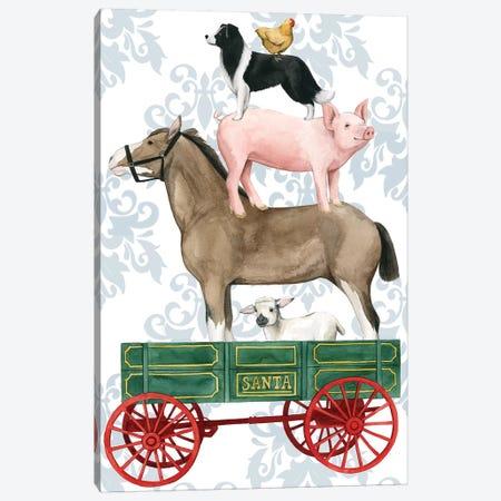 Santa's Farm Collection B Canvas Print #POP1790} by Grace Popp Canvas Print