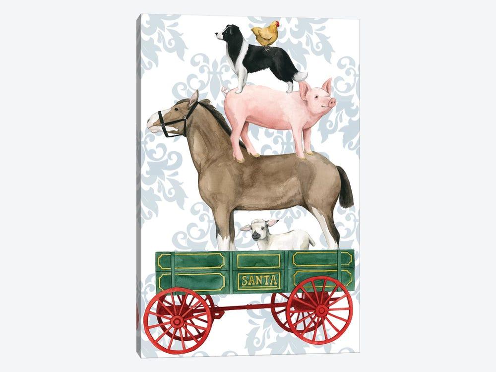 Santa's Farm Collection B by Grace Popp 1-piece Canvas Print