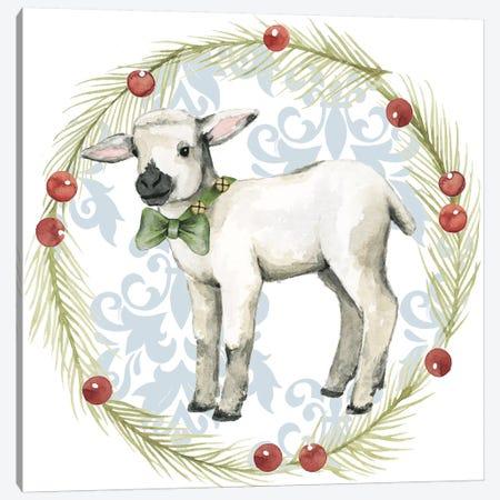 Santa's Farm Collection E Canvas Print #POP1792} by Grace Popp Art Print