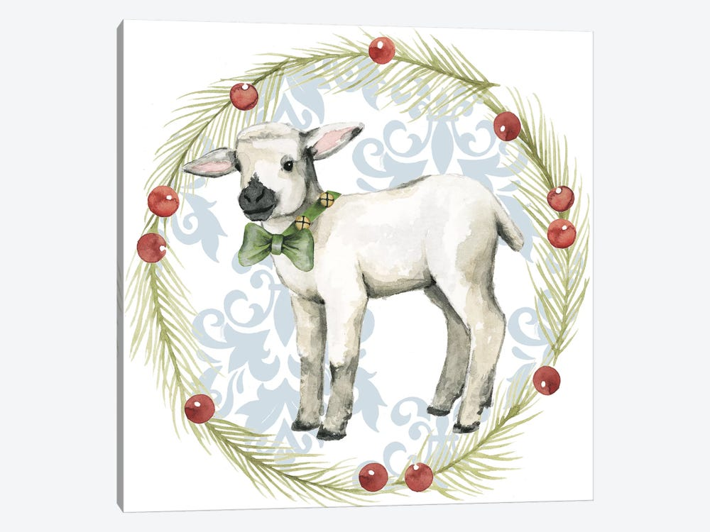 Santa's Farm Collection E by Grace Popp 1-piece Canvas Print