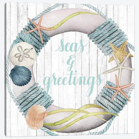 Seas & Greetings Collection A Canvas Print #POP1796} by Grace Popp Canvas Wall Art