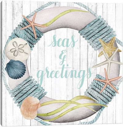 Seas & Greetings Collection A Canvas Art Print