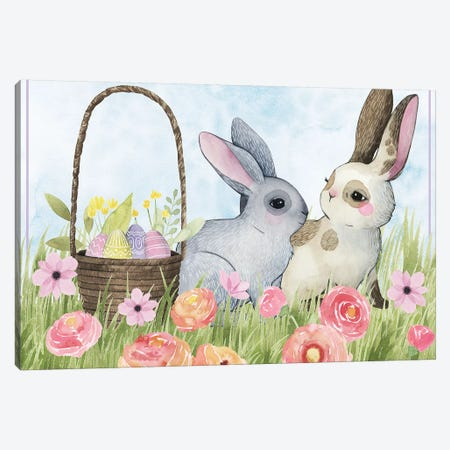 Somebunny Love Collection A Canvas Print #POP1799} by Grace Popp Canvas Art Print