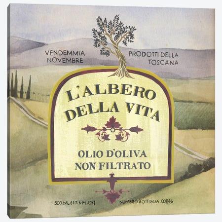 Olive Oil Labels IV Canvas Print #POP17} by Grace Popp Canvas Print