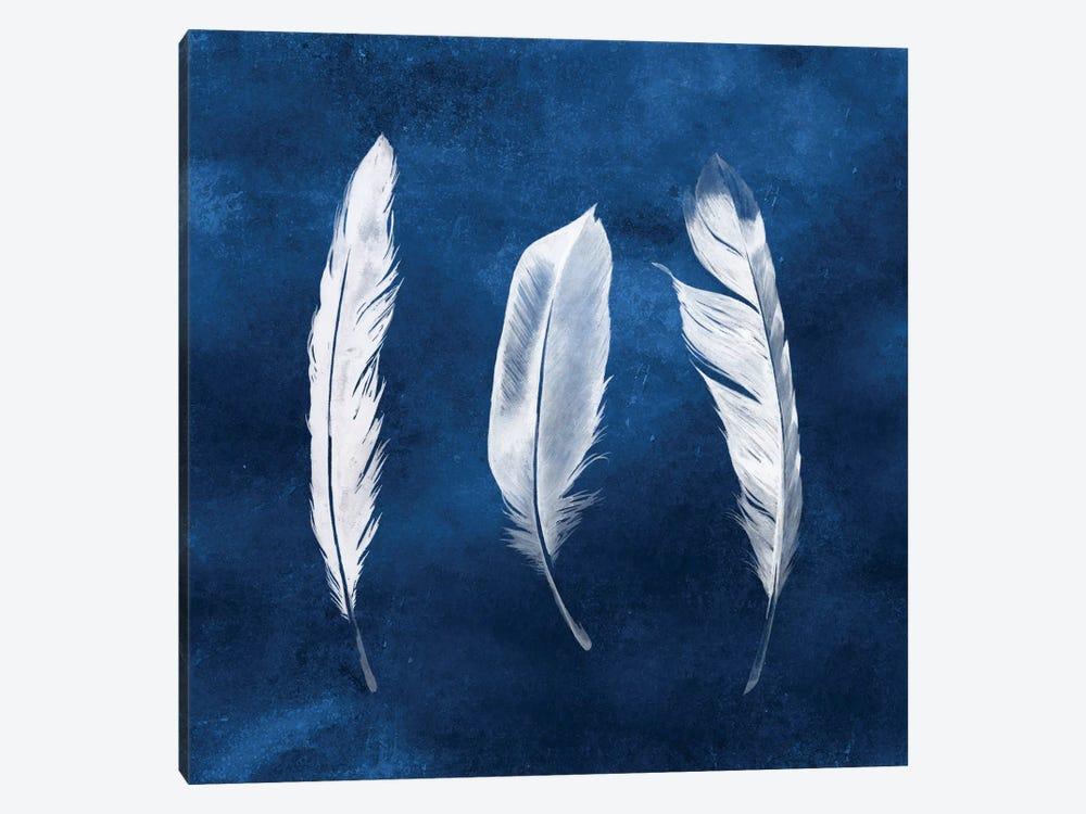 Cyanotype Feathers II by Grace Popp 1-piece Canvas Print