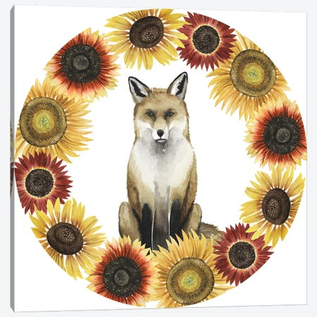 Sunflower Harvest Collection C Canvas Print #POP1815} by Grace Popp Art Print