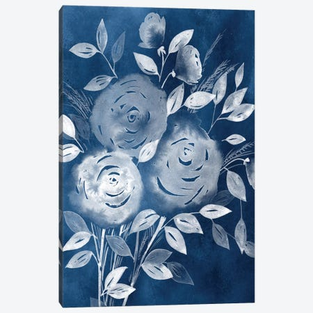 Cyanotype Roses I Canvas Print #POP181} by Grace Popp Canvas Print