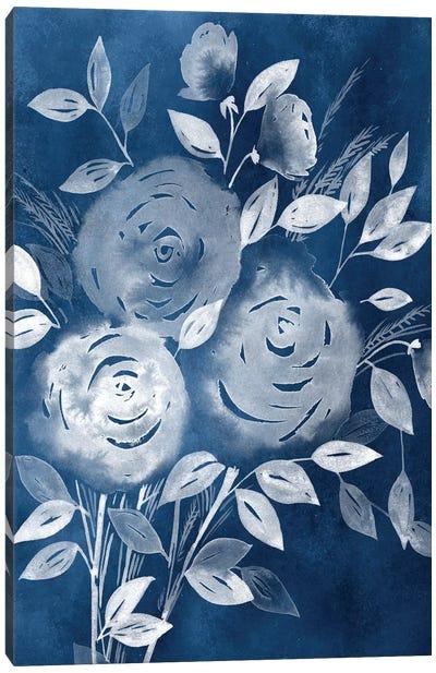 Cyanotype Roses I Canvas Art Print