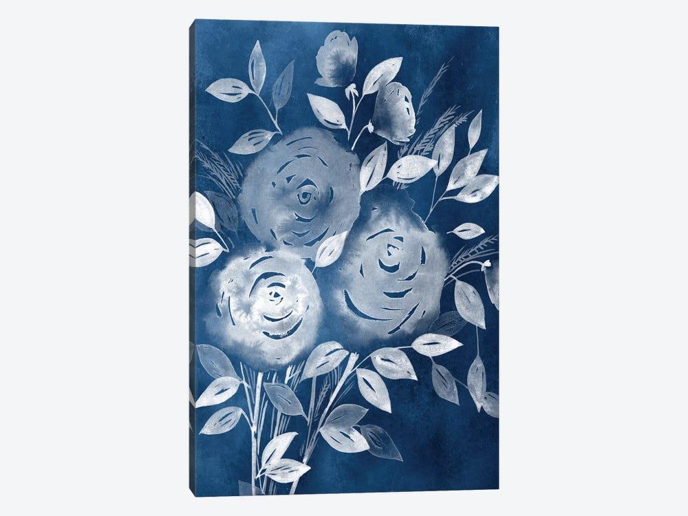 Cyanotype Roses I by Grace Popp 1-piece Canvas Artwork