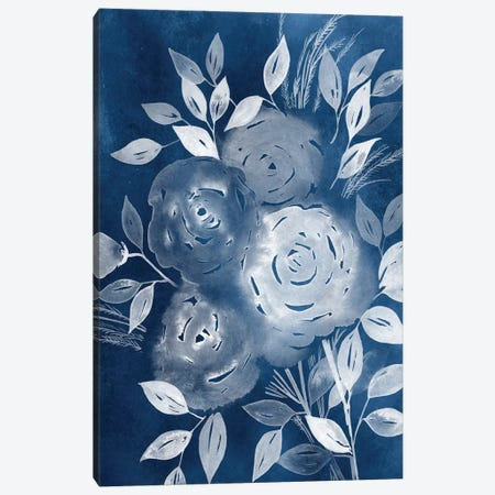 Cyanotype Roses II Canvas Print #POP182} by Grace Popp Canvas Art Print