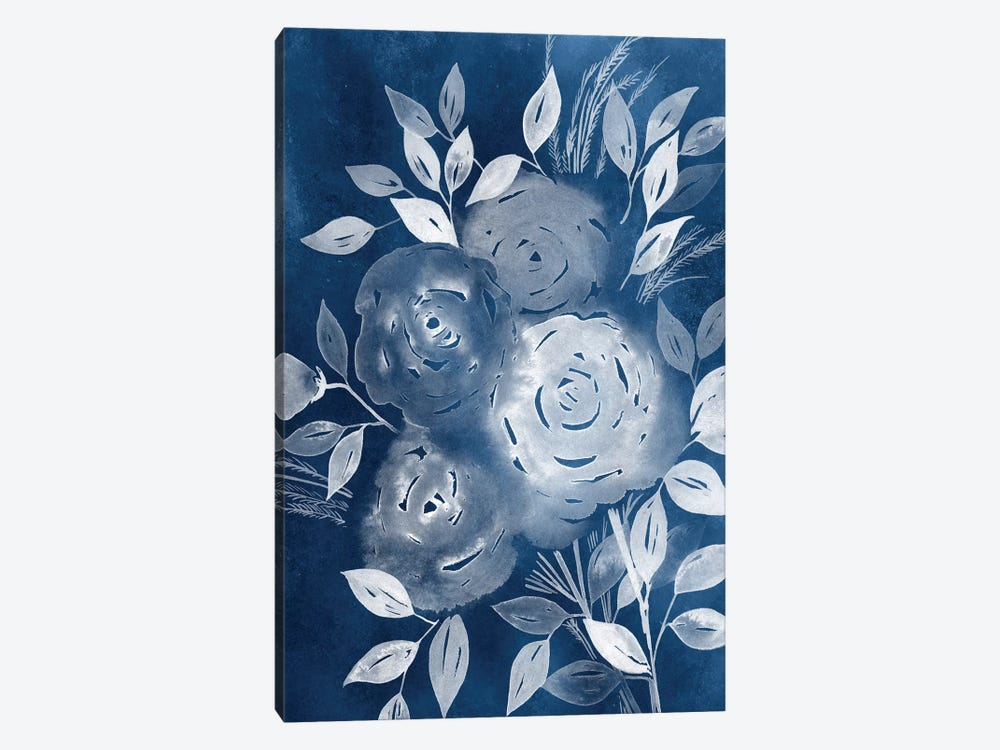 Cyanotype Roses II by Grace Popp 1-piece Canvas Art Print