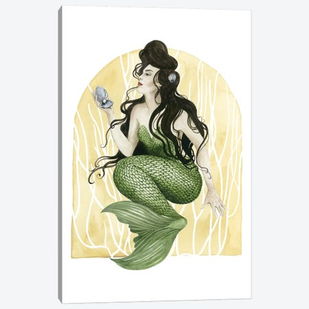 Deco Mermaid I Canvas Print #POP183} by Grace Popp Canvas Print