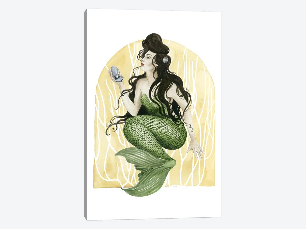 Deco Mermaid I by Grace Popp 1-piece Canvas Artwork