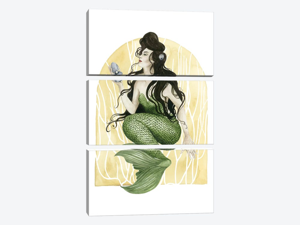 Deco Mermaid I by Grace Popp 3-piece Canvas Artwork