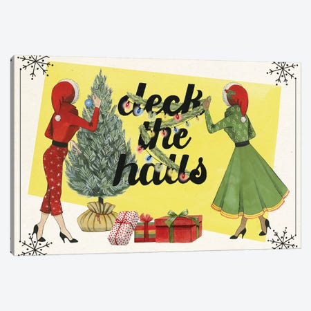 Vintage Christmas Collection A Canvas Print #POP1846} by Grace Popp Canvas Art