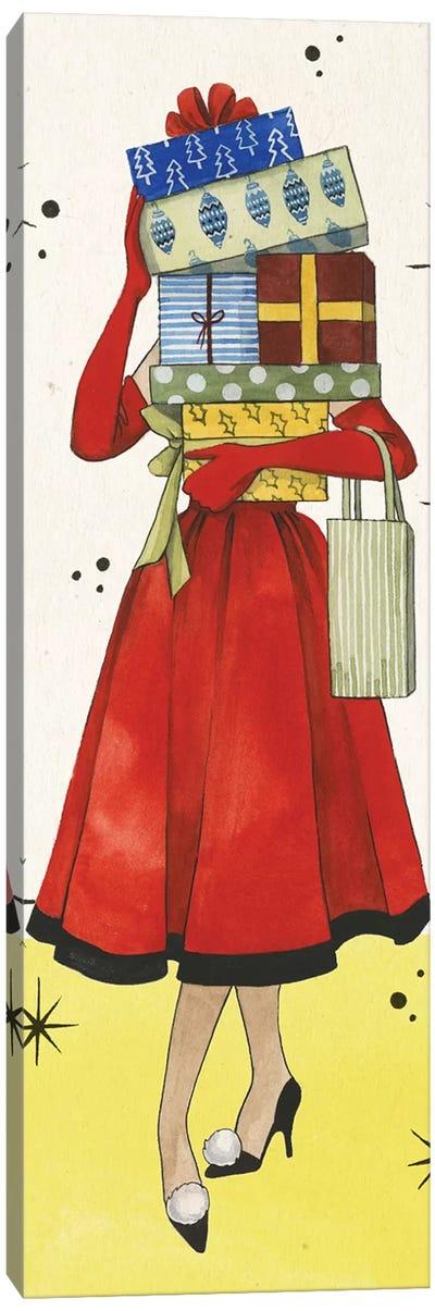 Vintage Christmas Collection B Canvas Art Print