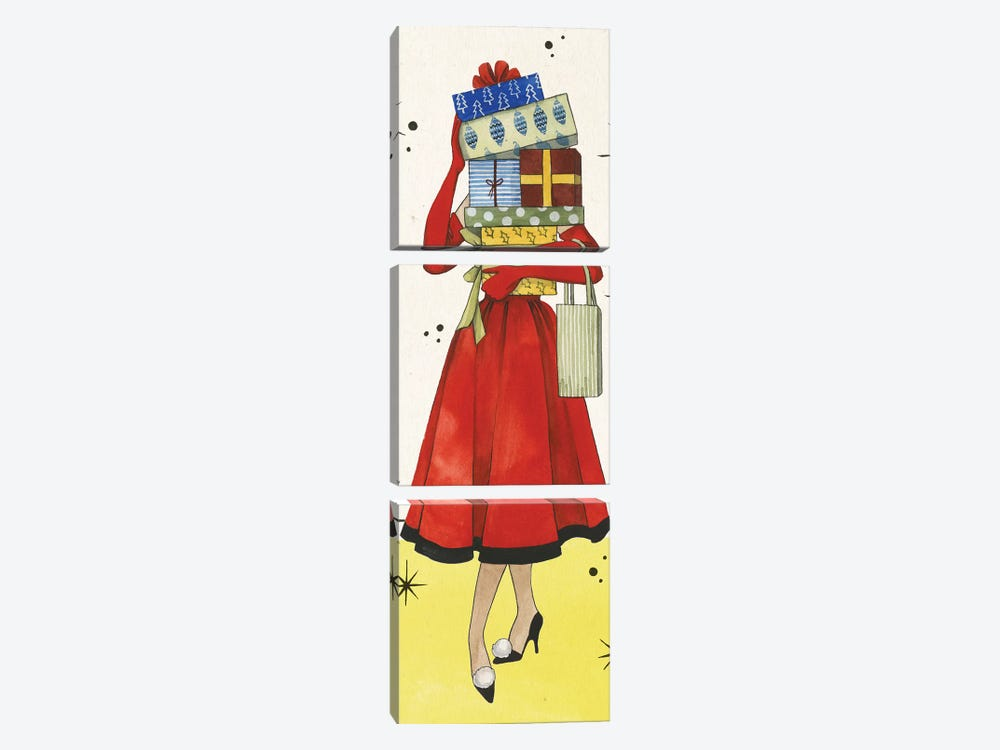 Vintage Christmas Collection B by Grace Popp 3-piece Canvas Print