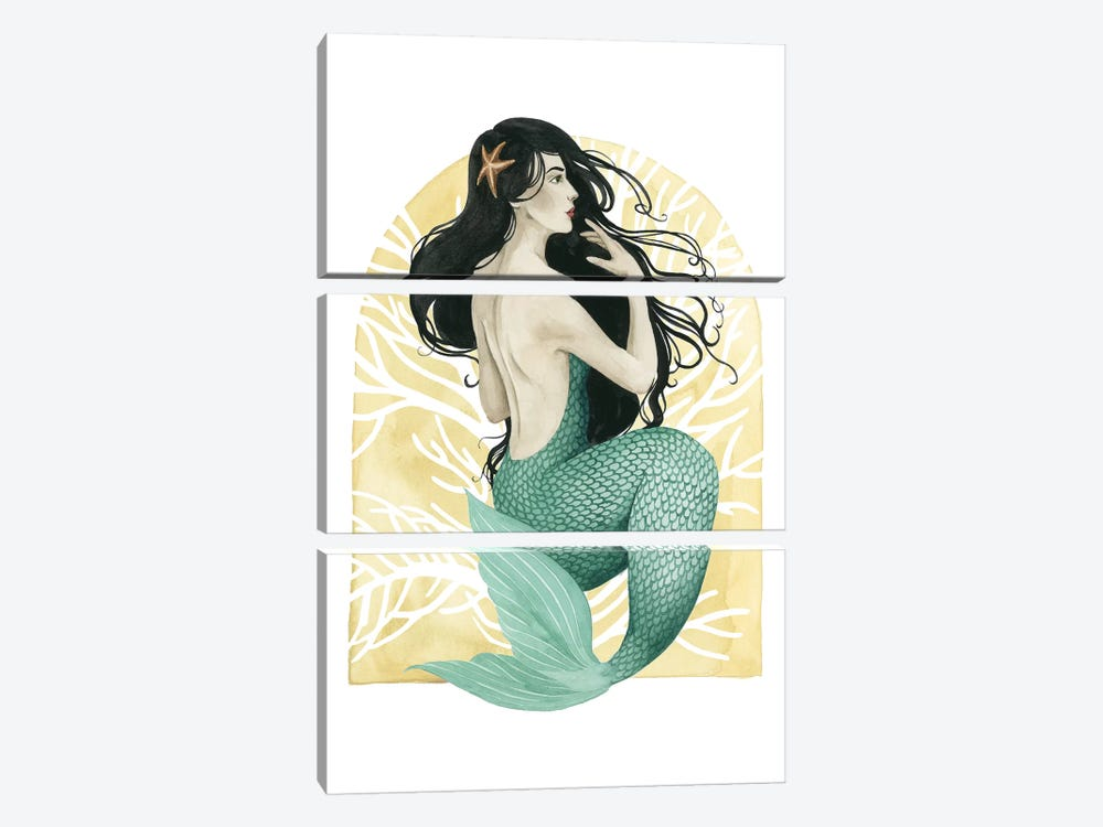 Deco Mermaid II by Grace Popp 3-piece Art Print