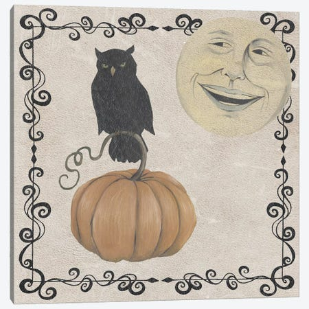 Vintage Halloween Collection E Canvas Print #POP1853} by Grace Popp Canvas Artwork