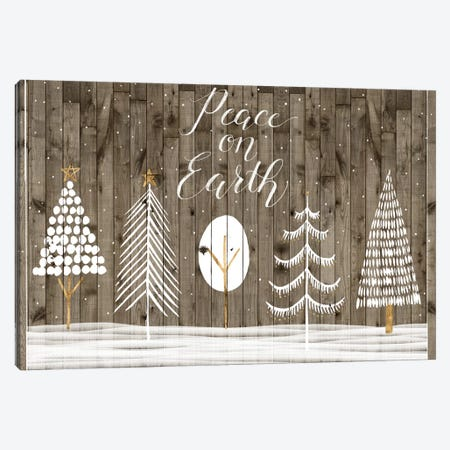 Wooded White Christmas Collection A Canvas Print #POP1858} by Grace Popp Canvas Art