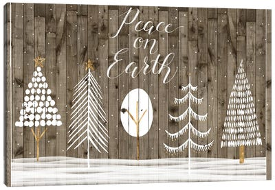 Wooded White Christmas Collection A Canvas Art Print