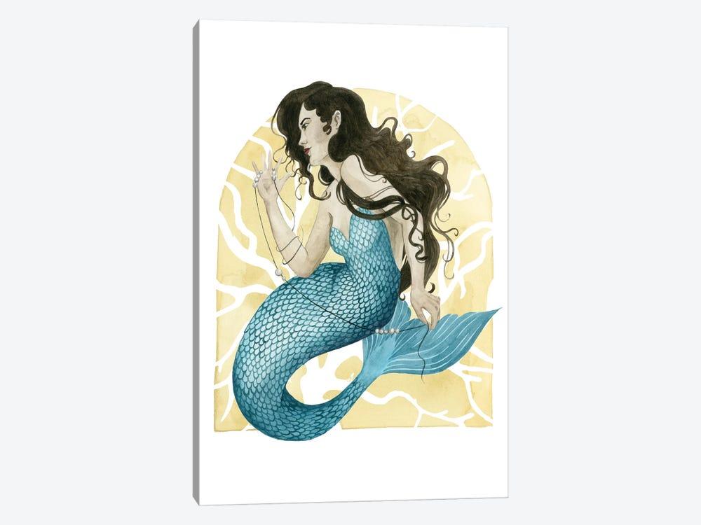 Deco Mermaid III by Grace Popp 1-piece Canvas Artwork