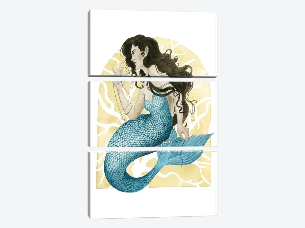 Deco Mermaid III by Grace Popp 3-piece Canvas Artwork