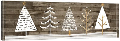 Wooded White Christmas Collection D Canvas Art Print