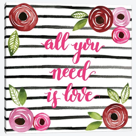 You Are Loved Collection A Canvas Print #POP1861} by Grace Popp Canvas Print