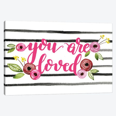 You Are Loved Collection C Canvas Print #POP1863} by Grace Popp Art Print
