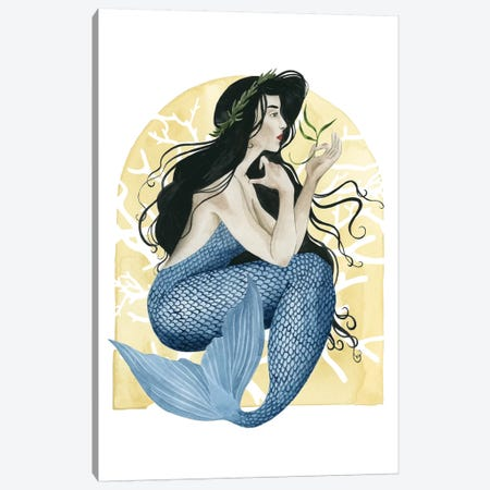Deco Mermaid IV Canvas Print #POP186} by Grace Popp Canvas Art