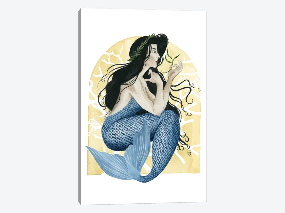 Deco Mermaid IV 1-piece Canvas Print
