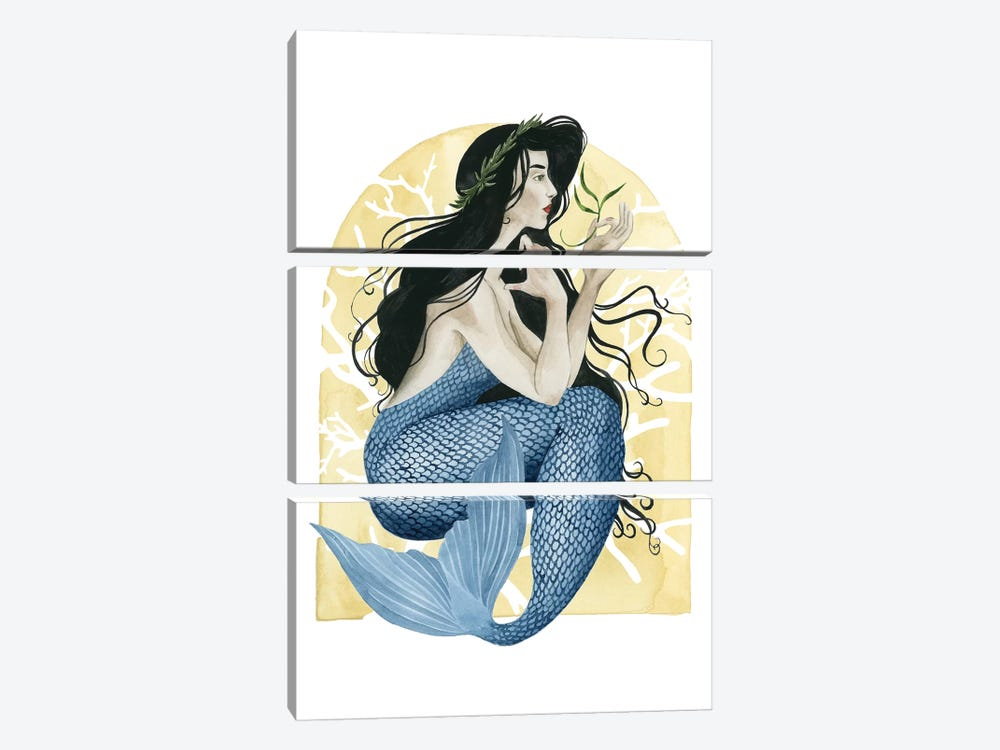 Deco Mermaid IV by Grace Popp 3-piece Art Print