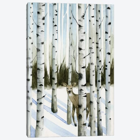 Deer In Snowfall II 3-Piece Canvas #POP188} by Grace Popp Canvas Art Print