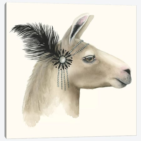 Downton Animals I Canvas Print #POP191} by Grace Popp Canvas Wall Art