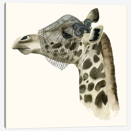 Downton Animals II Canvas Print #POP192} by Grace Popp Canvas Art